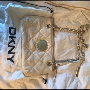 White DKNY cross body bag